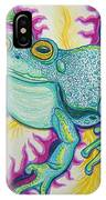 Frog And Flower IPhone Case