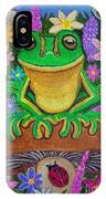 Frog On Mushroom IPhone Case