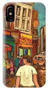 From Schwartz's To Warshaws To The  Main Steakhouse Montreal's Famous Landmarks By Carole Spandau  IPhone Case