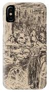 From The Jewish Quarter In Amsterdam: Fishmarket On The Street Corner IPhone Case