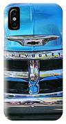 Front End Blue And Chrome Chevy Pick Up IPhone Case