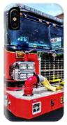 Front Of Fire Truck With Hose IPhone Case