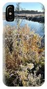 Frost Along Nippersink Creek In Glacial Park At Sunrise IPhone Case