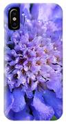 Frosted Blue Pincushion Flower IPhone Case