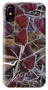 Frosted Red Green Briar IPhone Case
