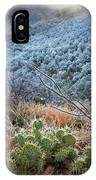 Frosty Prickly Pear IPhone Case