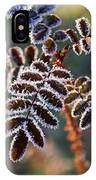 Frosty Rose Leaves IPhone Case