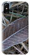 Frosty Veined Leaf IPhone Case