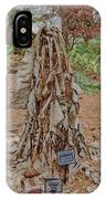 Frozen Banana Tree In Colored Pencil IPhone Case