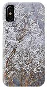 Frozen Trees During Winter Storm IPhone Case