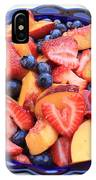 Fruit Salad In Blue Bowl IPhone Case