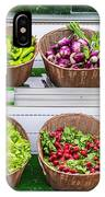 Fruits And Vegetables On A Supermarket Shelf IPhone X Case