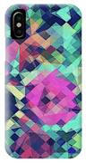 Fruity Rose   Fancy Colorful Abstraction Pattern Design  Green Pink Blue  IPhone Case