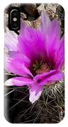 Fuchsia Cactus Blossom IPhone Case