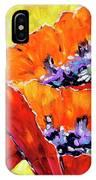 Full Bloom Poppies By Prankearts Fine Art IPhone Case