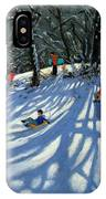 Fun In The Snow IPhone Case