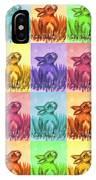 Fun Spring Bunnies IPhone Case