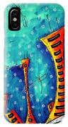 Funky Town Original Madart Painting IPhone Case