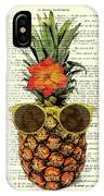 Funny And Cute Pineapple Art IPhone Case by Madame Memento