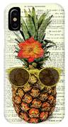 Funny And Cute Pineapple Art IPhone X Case