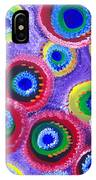 Fuzzy Purple Circles IPhone Case