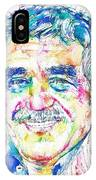 Gabriel Garcia Marquez - Portrait.2 IPhone X Case