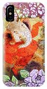 Ganesh In Dancing Pose With Floral Backdrop. IPhone Case
