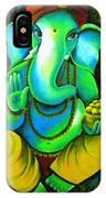 Ganesh In Garden IPhone Case