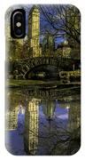 Gapstow Bridge In Central Park IPhone Case