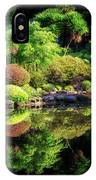 Garden At Shores Acres IPhone Case
