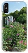 Old Garden Beach Flowers IPhone Case