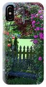 Garden Bench And Trellis IPhone Case