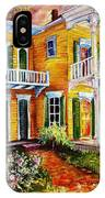 Garden District Home  IPhone Case