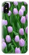 Garden Of Pink Tulips IPhone Case