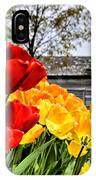Garden Tulips On A Cloudy Day IPhone Case