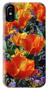 Garden With Blooming Yellow And Red Tulip Blossoms IPhone Case