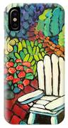 Garden With Lamp By Peggy Johnson IPhone Case