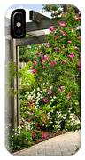 Garden With Roses IPhone X Case