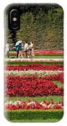 Gardens Of The Schloss  Schonbrunn  Vienna Austria IPhone Case