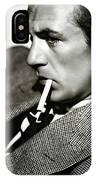 Gary Cooper Smoking C.1935 IPhone Case