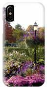 Gas Lamp In Garden IPhone Case