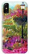 Gas Light In The Garden IPhone Case