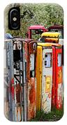 Gas Pump Conga Line In New Mexico IPhone Case