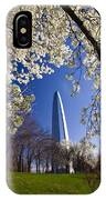 Gateway Arch With Cherry Tree In Bloom. IPhone Case