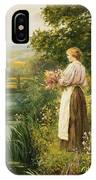 Gathering Spring Flowers IPhone Case