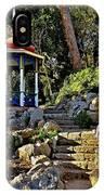 Gazebo And Garden  On A Hillside  IPhone Case