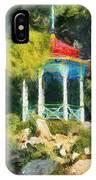 Gazebo In The Nikitsky Botanical Garden IPhone Case