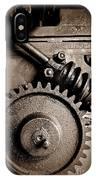 Gear In Sepia IPhone Case