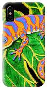 Gecko Hanging On IPhone Case