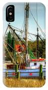 Geechie Seafood Shrimp Boats IPhone Case